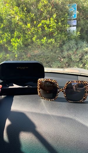 Coach sunglasses with case like new for Sale in San Diego, CA