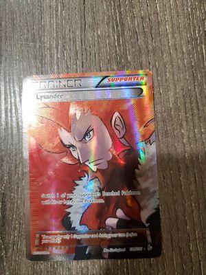 Ultra Rare Lysandre Supporter Full Art Pokémon Card for Sale in Sacramento, CA