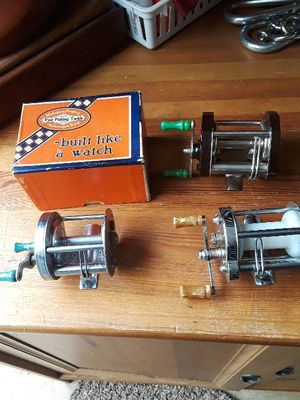 Fishing vintage baitcaster reels for Sale in Vancouver, WA