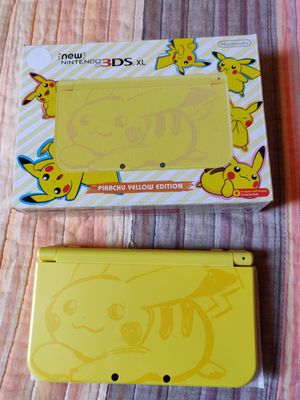 Yellow pikachu Nintendo new 3ds xl with 130 3ds games , ds , 2ds for Sale in Los Angeles, CA