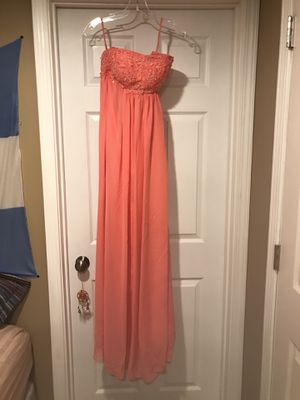 Coral pink dress - size 0 for Sale in St. Peters, MO