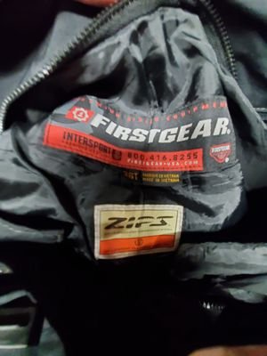 Motorcycle riding gear. First gear pants 36T and clover jacket 3XL never seen pavement for Sale in Aurora, CO