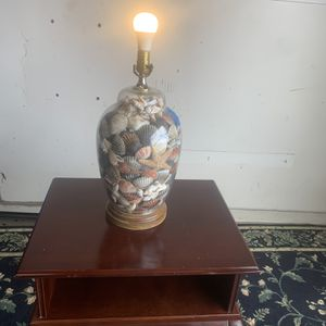 Vintage Glass Lamp Filled With Seashells for Sale in Houston, TX