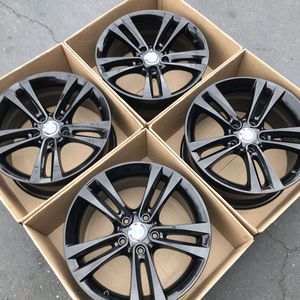 "18"" oem BMW 328i factory wheels 18 inch staggered gloss black rims 328i 3 series bmw for Sale in Tustin, CA"