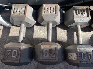 One of each ex dumbbells Single ones for Sale in Fullerton, CA