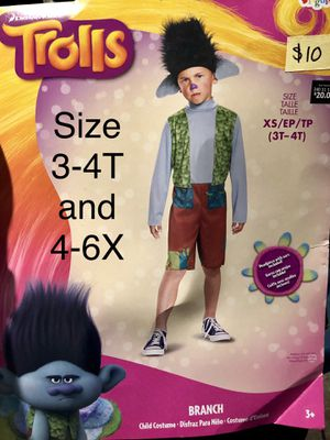 NEW Branch Trolls Halloween Costume size 3-4T and 4-6X for Sale in Phoenix, AZ