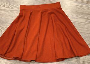 Bright red circle a-line skater skirt for Sale in Silver Spring, MD