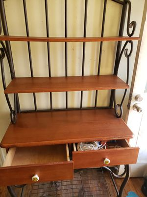 Iron and wood bakers rack. Good condition. for Sale in Austin, TX