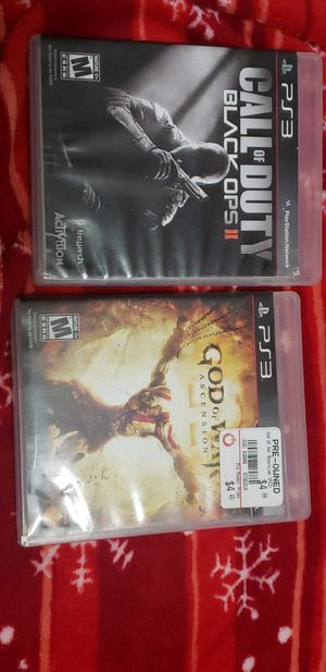 Ps3 w/ 2 controllers, all cables, call of duty black ops 2 and, God of War Ascencion for Sale in Miami Gardens, FL