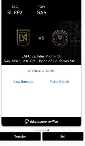 Lafc supporter seats for Sale in Los Angeles, CA