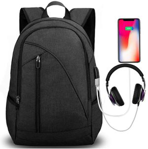 Brand New Seal In Bag 17-Inch Water Resistant Laptop Backpack with USB Charging Port Headphone Port Fits up to Laptop Computer Backpacks Travel Dayp for Sale in Hayward, CA