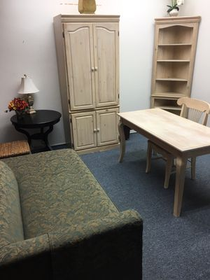 Wood Bedroom set Desk, Chair, Cabinet, Shelf, armoire for Sale in Pasadena, CA