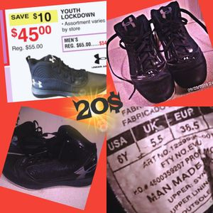 Under Armour shoes sz 6y for Sale in Winslow, IN