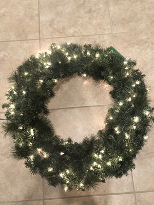 Christmas Wreath 36 inch Clear Lights for Sale in Windermere, FL