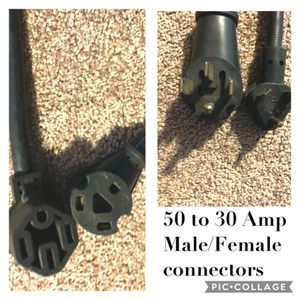Electric Connectors 50 To 30 AMP Male/Female for Sale in Buckeye, AZ