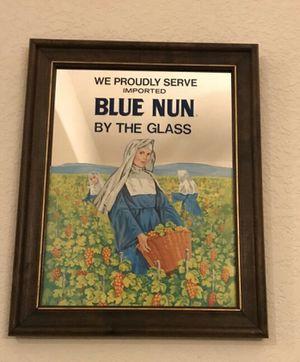 Vintage Blue Nun bar mirror for Sale in Denver, CO
