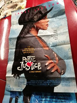 Original 1993 movie poster Poetic Justice with Tupac Shakur and Janet Jackson for Sale in Louisville, KY