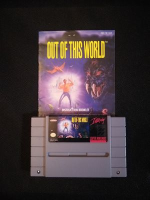 Out of This World: cartridge w/ manual - Super Nintendo - Classic SNES game for Sale in Oakley, CA