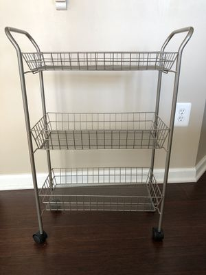 3-Tier Rolling Metal Storage Organizer - Mobile Utility Cart with Caster Wheels, for Sale in Ashburn, VA