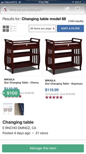 Changing table for Sale in Compton, CA