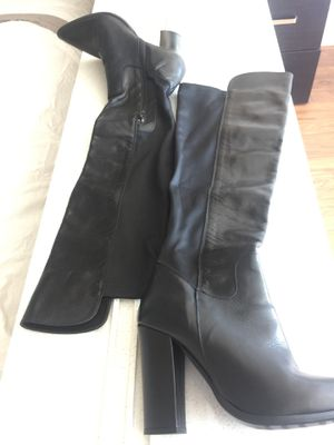 Italian black leather boots for Sale in San Francisco, CA