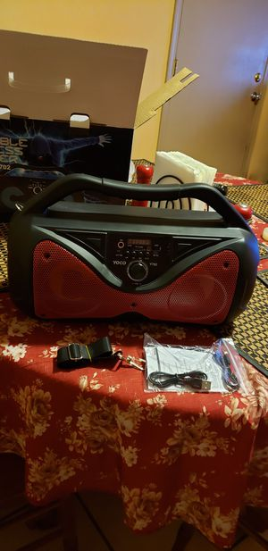 Portable wireless speaker yoco for Sale in Fresno, CA