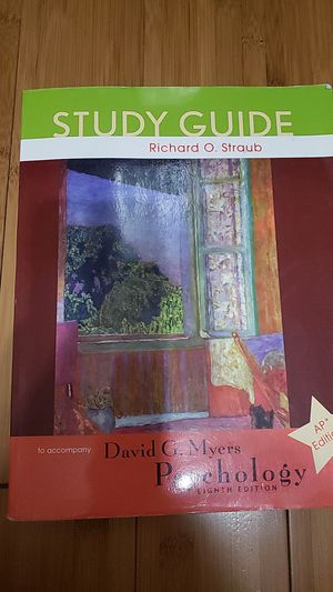 Study Guide for Psychology Eighth (8th) Edition for Sale in Ontario, CA