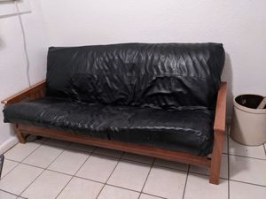 Synthetic leather futon for Sale in Fort Lauderdale, FL