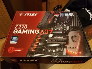 MSI gaming M7 Z270 and Intel I5 7600k for Sale in Rochelle, IL