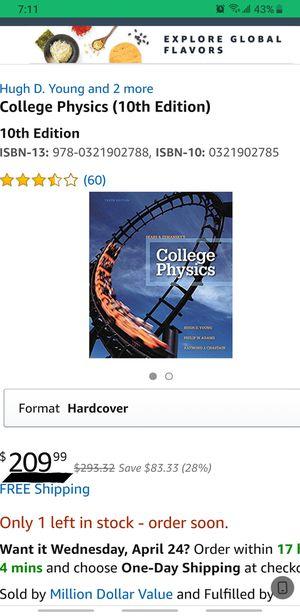 College Physics (10th Edition) for Sale in North Miami, FL