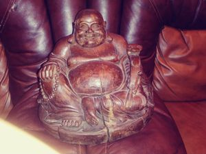 Antique Wooden Buddah for Sale in Frankfort, IL