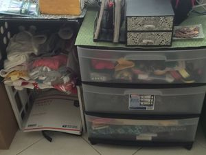 3 Drawer Storage Bin filled with Craft Supplies for Sale in Miramar, FL