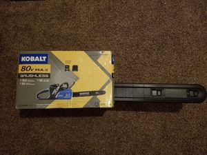 Kobalt 80-volt Max Lithium Ion 8-in Cordless Electric Chainsaw Starter Kit for Sale in Modesto, CA