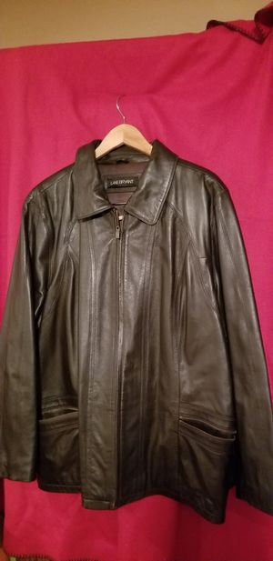 LEATHER BROWN JACKET for Sale in Modesto, CA
