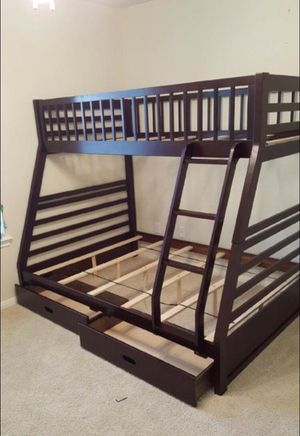 TWIN/ FULL ESPRESSO COLOR BUNK BED WITH DRAWERS NEW IN BOX for Sale in Austin, TX