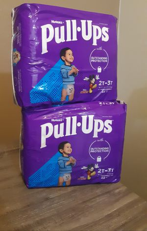 $13 Both~~ TWO bags Huggies pull ups 2t-3t (( 18-34 lbs)) ****23 count for Sale in Riverside, CA