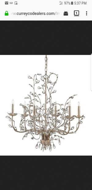 Currey and Co. Chandelier BRAND NEW STILL IN BOX for Sale in Atlanta, GA