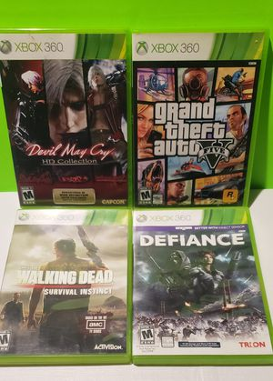 Xbox 360 Game Lot - Devil May Cry + GTA V (You get all 4) for Sale in Denver, PA
