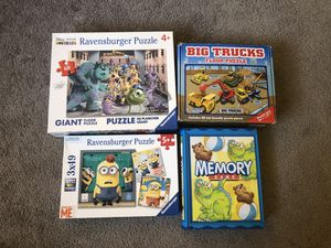 Puzzles and board game set 20$ for Sale in Kent, WA
