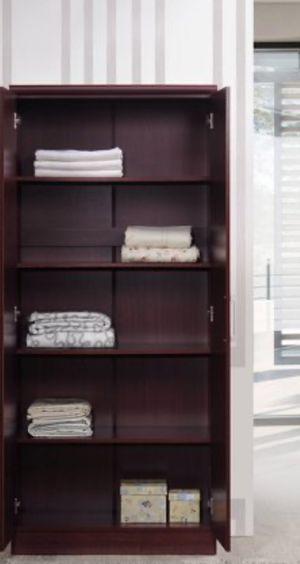 New!! Armoire, cabinet, storage unit, wardrobe, 2 doors 5 adjustable shelves wardrobe,organizer, living room furniture, entrance furniture, dinning for Sale in Phoenix, AZ