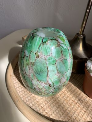 Green Glass Pendant Shade or Candle Holder for Sale in Richmond, CA