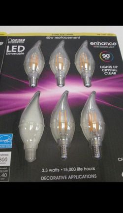 Feit Electric LED Dimmable Candelabra Base Light Bulbs for Sale in Dearborn,  MI