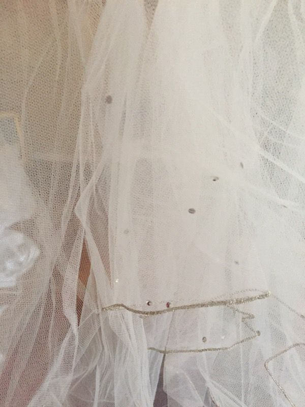 White 2-tier Bridal Veil