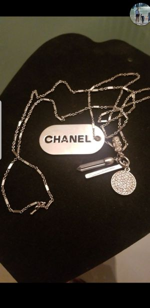 NEW GORGEOUS STAINLESS CHARMS NECKLACE 36INCHES for Sale in Tracy, CA