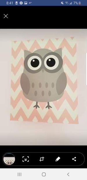 Owl nursery or kids wall art for Sale in Hanover Park, IL