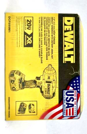 DEWALT 20-Volt MAX XR Cordless Brushless High Torque 1/2 in. Impact Wrench w/ Detent Pin Anvil,Battery 4.0Ah,Charger & Tool Bag for Sale in Chicago, IL