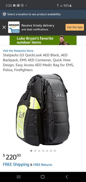 Statpacks G3 Quick Look AED Backpack for Sale in Atlanta, GA