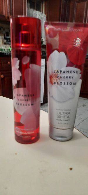Japanese cherry blossom 8 oz and cream for Sale in Sterling Heights, MI