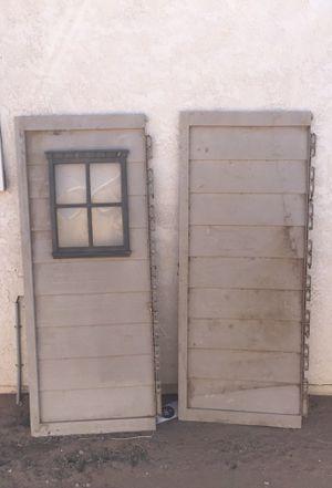 """Storage shed doors door 71"""" X 28-30"""" for Sale in Apple Valley, CA"""