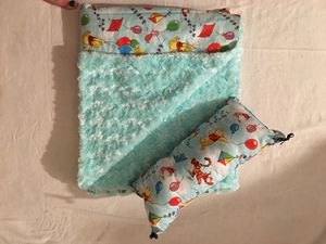 Winnie the baby blanket with matching pillow for Sale in Riverside, CA